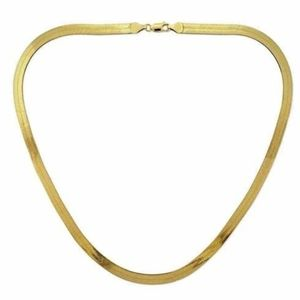 Jewelry - 14K Yellow Gold fill Herringbone Necklace 7mm 20""